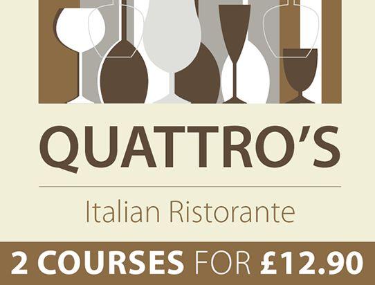 2 courses menu quattros