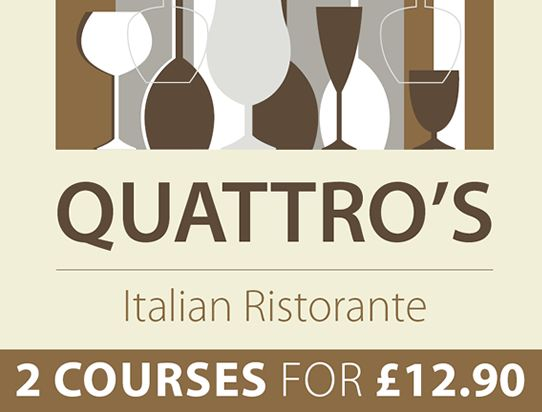 2 courses menu quattros